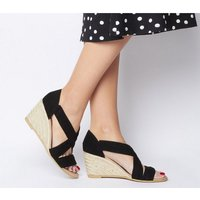 Office Maiden - Wf Wedge BLACK SUEDE