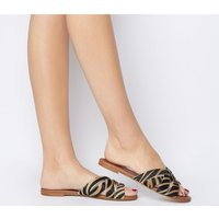 Office Saffron- Wf- Mule Sandal TIGER COW HAIR