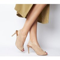 shop for Office Mine Peep Sling TAUPE SUEDE at Shopo