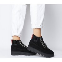 Office Ability- Lace Up Hiker BLACK SUEDE