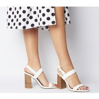 Office O-happiness- Two Part Sandal WHITE