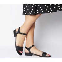 Office O-snap- Two Part Sandal BLACK