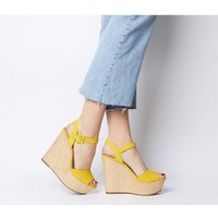 Office Helen Two Part Wedges YELLOW NUBUCK