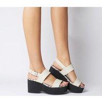 Office O-magnify- Flatform Sandal OFF WHITE