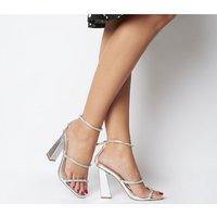 Office Highshine Diamante Feature Heel Sandal SILVER