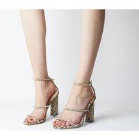 Office Highshine Diamante Feature Heel Sandal SNAKE
