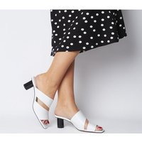 Office Merlot Two Part Cylindrical Heel Mule WHITE GROUCHO