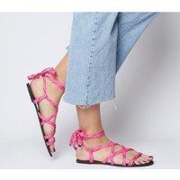 Office Stobe- Tie Up Cord Sandal PINK ROPE