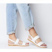 Office Sense- Cork Sole Sandal WHITE LEATHER