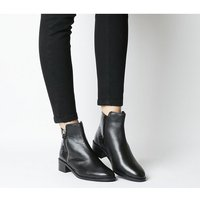shop for Office Aspen Side Zip Stepped Ankle BLACK LEATHER MIX at Shopo