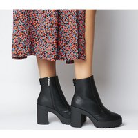 Office Agility Cleated Heel Boot BLACK