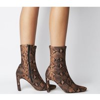 shop for Office Amore Block Heel Sock Boot SNAKE STRETCH at Shopo