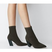 shop for Office Aniseed- Angled Heel Sock Boot KHAKI KNIT at Shopo