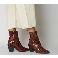 shop for Office Avail- Western Boot BROWN CROC LEATHER at Shopo