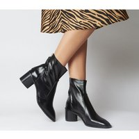 shop for Office Achilles- Unlined Block Heel BLACK LEATHER at Shopo