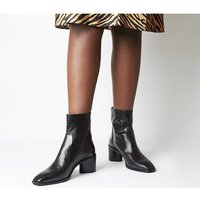 shop for Office Achilles- Unlined Block Heel BLACK SNAKE LEATHER at Shopo