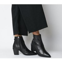 shop for Office Anais- Pointed Western Boot BLACK LEATHER at Shopo