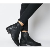 Office Ashleigh Wf Flat Ankle Boots BLACK LEATHER