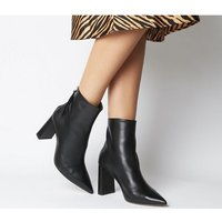 shop for Office Alpha- Pointed Back Zip Boot BLACK LEATHER at Shopo
