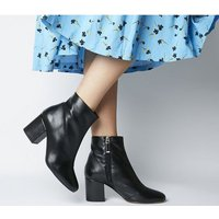 shop for Office Amoretti- Black Heel Boot BLACK LEATHER at Shopo