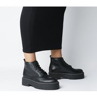 shop for Office Absorb- Chunky Lace Up Boot BLACK LEATHER at Shopo