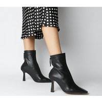shop for Office Address- Dressy Square Toe Boot BLACK LEATHER at Shopo