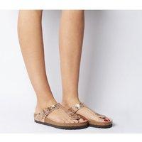 Birkenstock Toe Thong Footbed Metallic Stones Copper