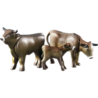 2 cows with calf