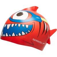 Mens Red Speedo Sea Squad Silicone Junior Swimming Cap