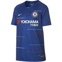 Blue Nike Chelsea Fc 2018/19 Junior Home Shirt