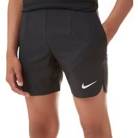 "Black Nike Court Ace 6"" Junior All Court Shorts, Black"