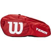 Mens Red Wilson Team Iii X3 Racket Bag