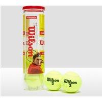 Womens Yellow Wilson Championship Extra Duty Tennis Ball Can (4 Ball Can)