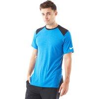 Mens Blue Nike Breathe Elite Short Sleeve Basketball Top