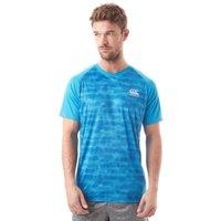 Mens Blue Canterbury Vapodri Superlight Graphic Training T-shirt
