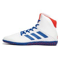 Image of Mens White adidas Mat Wizard 4 Wrestling Boots
