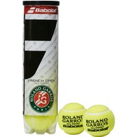 Mens Mid Yellow Babolat French Open All Court Tennis Balls (4 Ball Can)