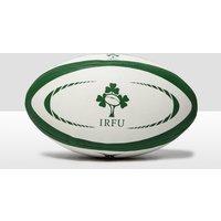 Mens White Gilbert Ireland International Replica Midi Rugby Ball