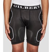 Black Gilbert Junior Protective Rugby Shorts, Black
