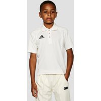adidas Junior Cricket Shirt - white, white