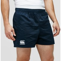 Mens Navy Blue Canterbury Professional Cotton Rugby Shorts