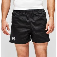 Mens Black Canterbury Professional Cotton Rugby Shorts