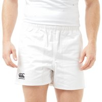 Mens White Canterbury Professional Cotton Rugby Shorts