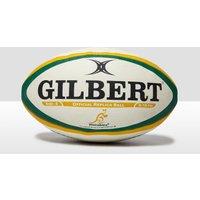Mens White Gilbert Australia International Replica Rugby Ball