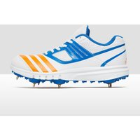 adidas Junior Howzat Full Spike Cricket Shoes - white/blue, white/blue