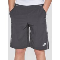 Black Babolat X LONG PERFORMANCE JUNIOR TENNIS SHORTS, Black