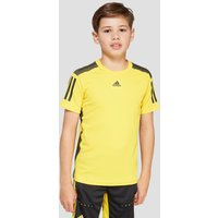 adidas BARRICADE JUNIOR TENNIS T-SHIRT - yellow/black, yellow/black