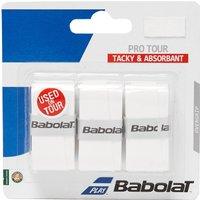 Mens White Babolat Pro Tour Overgrip (3 Per Pack)