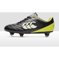 Black Canterbury Stampede 2.0 SG Junior Rugby Boots, Black