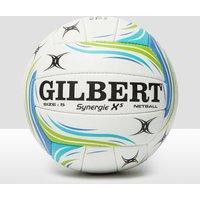 Mens White Gilbert Synergie X5 Match Netball